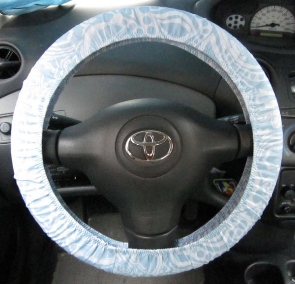 Sewing a Steering Wheel Cover (aka: Swimsuit Elastic Practice)
