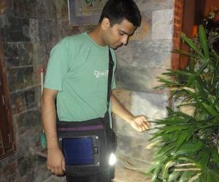 SOLAR BAG WITH TORCH AND MULTI PORT CHARGER