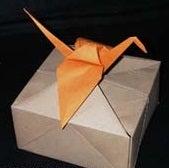 How to Make an Origami Crane Gift Box!