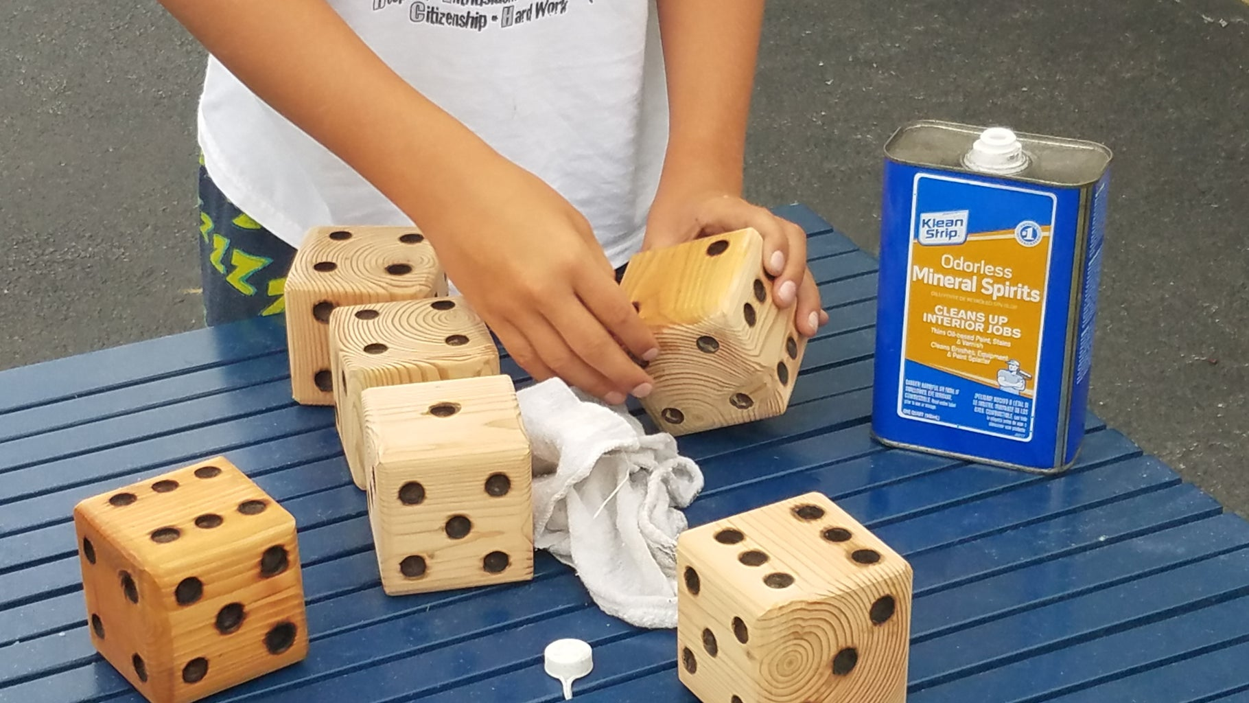 Sand and Finish the Dice