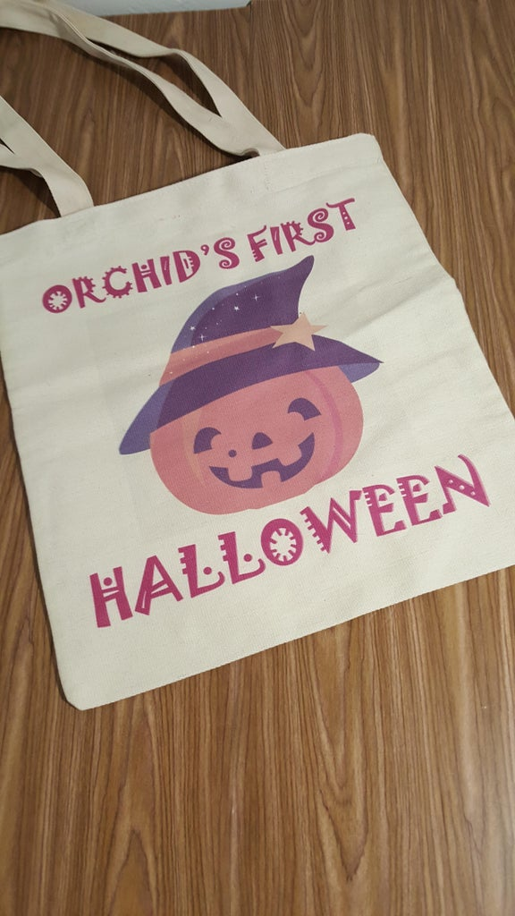 Canvas Halloween Trick-Or-Treat Light Up Candy Bag