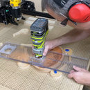 Clear Router Sled and Radius Jig