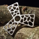 Metal Cast Fidget Spinner With Voronoi Pattern