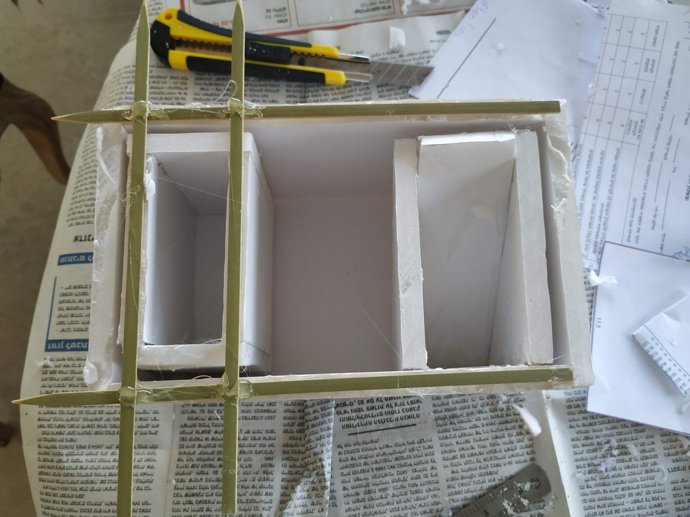 Assembling the Pieces to Create a Mold