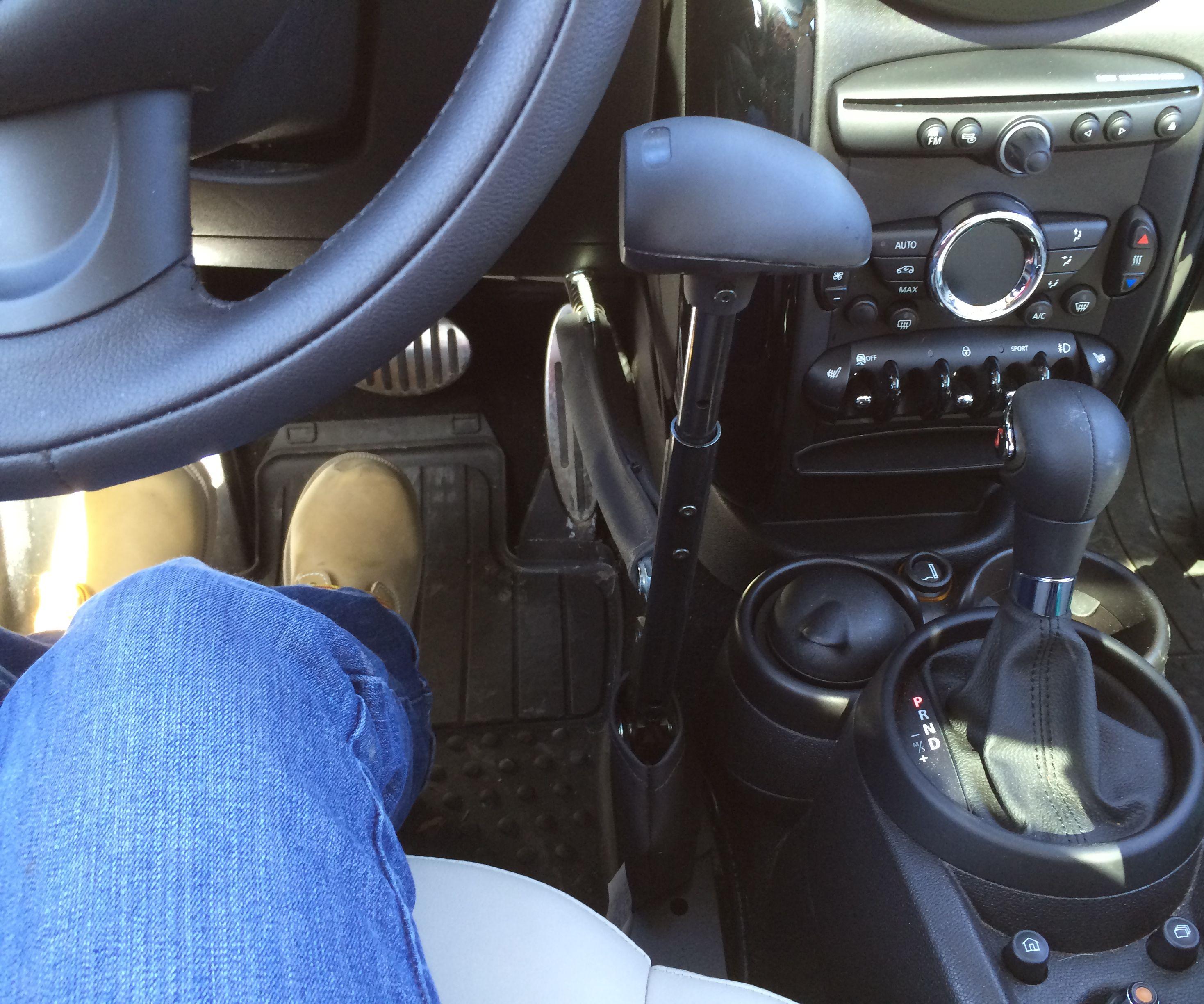 Drive a car with Menox hand controls