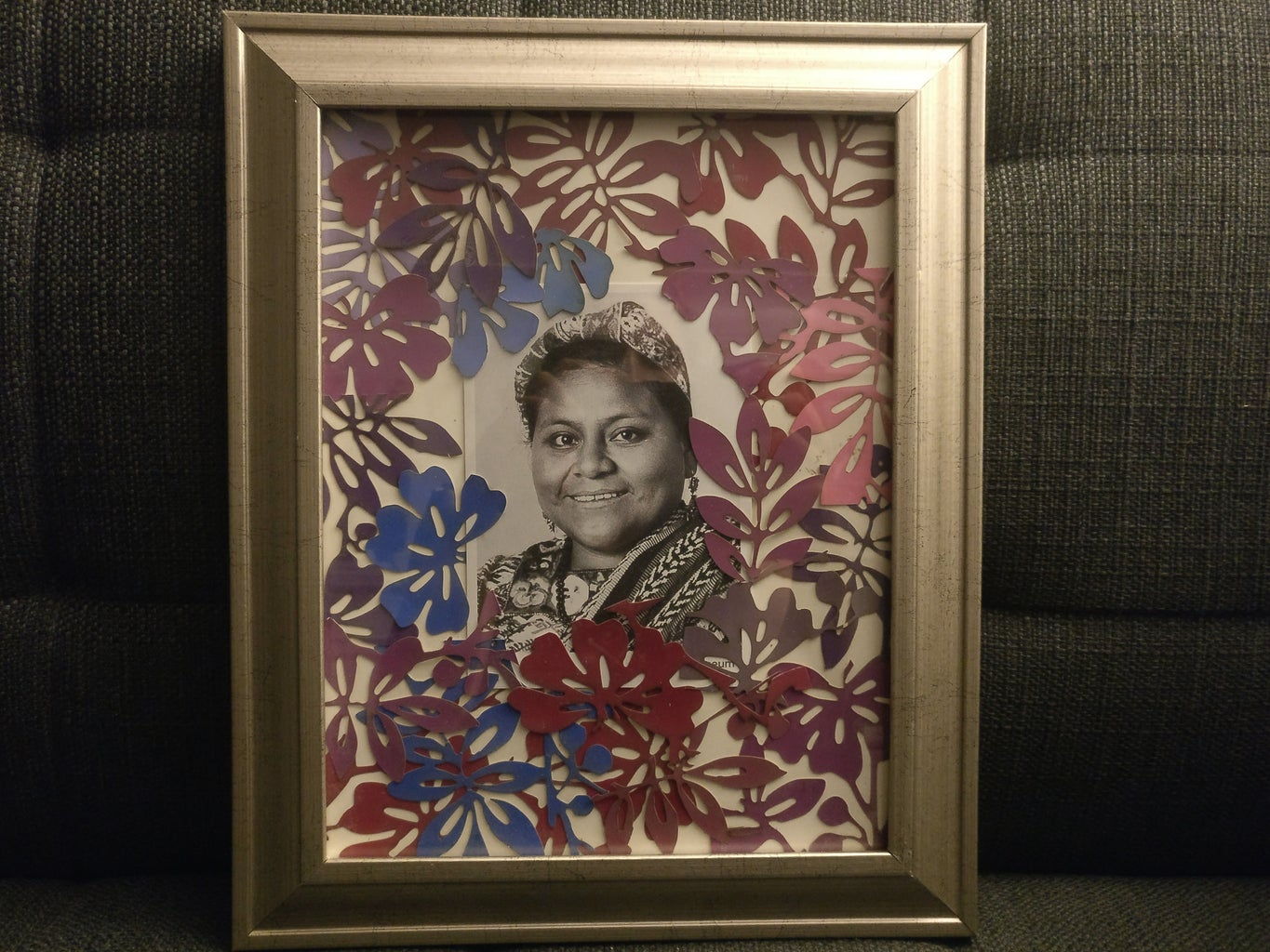 Paint Sample Up-cycling: Creative Frames