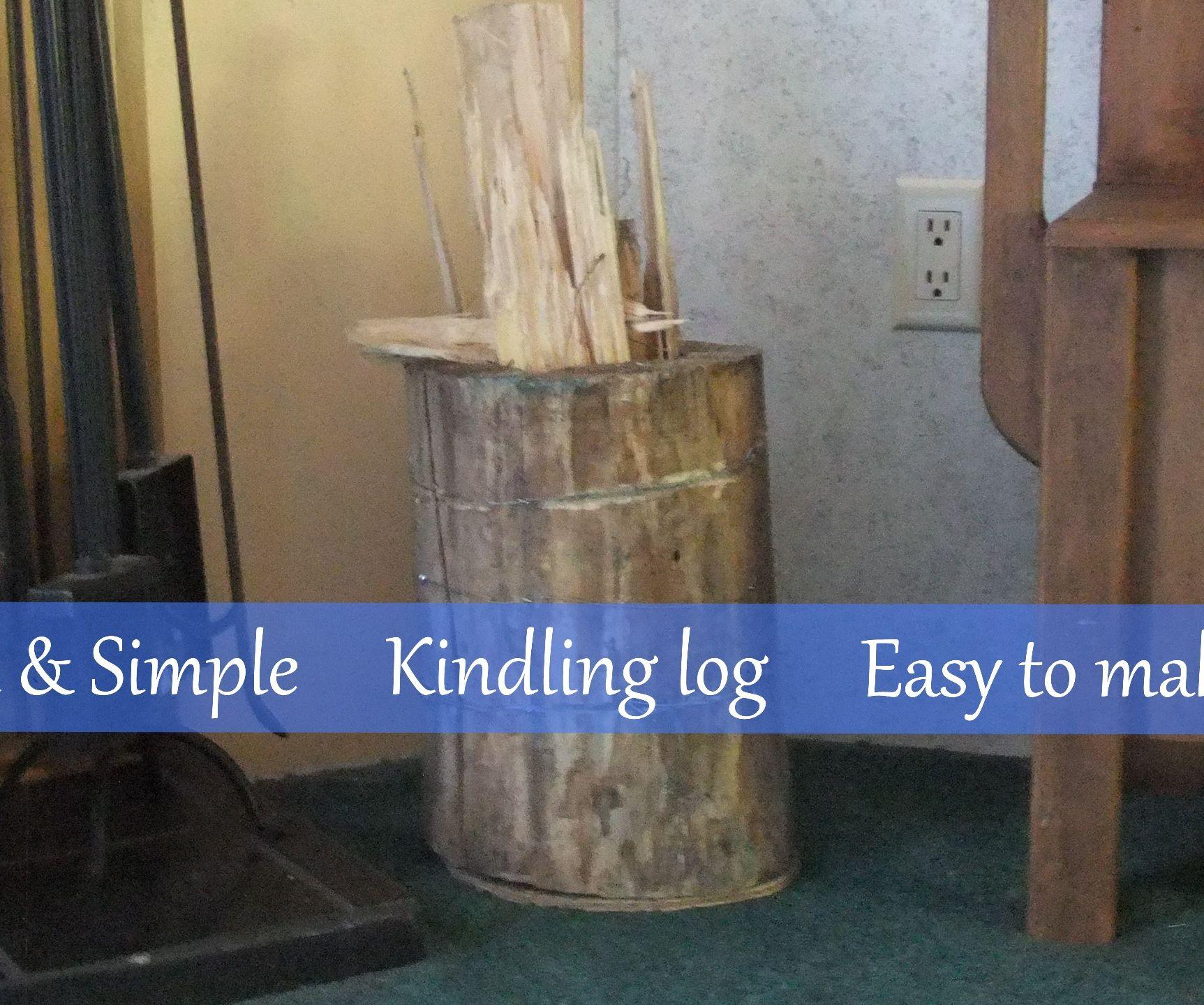 Kindling log