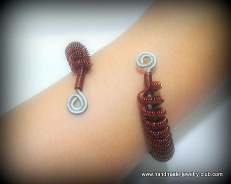 Coiled Wire Bangle Jewelry Making Tutorial