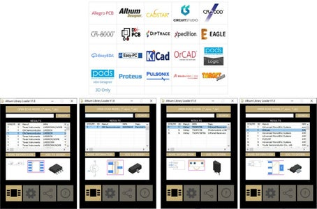 Figure-3: SamacSys Supported CAD Plugins and the Used Components in the Altium Designer's Plugin