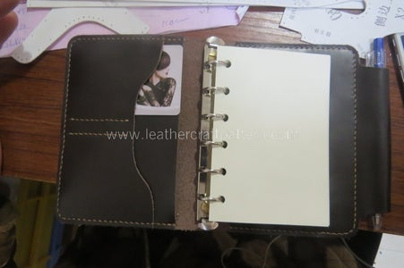 Install A7 Loose Leaf Binder on and Add Refill Pages, the Dairy Is Finished.