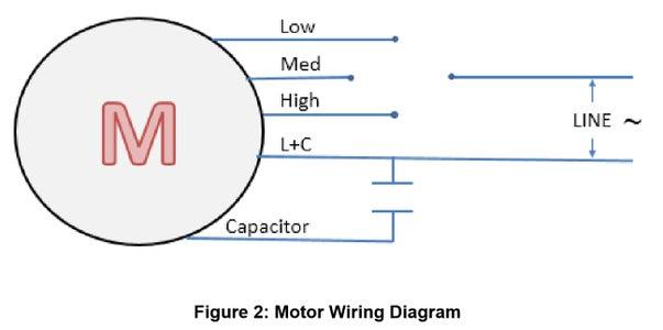 3-Speed AC Fan Motor