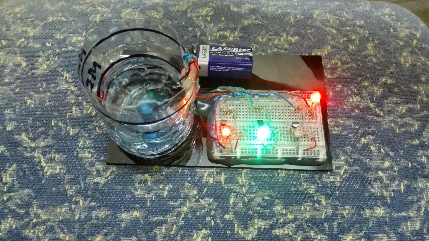 Water Medium Level Indication (Green LED)
