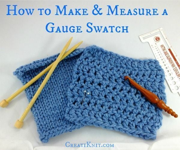 How to Make, & Measure a Knitting Gauge Swatch!