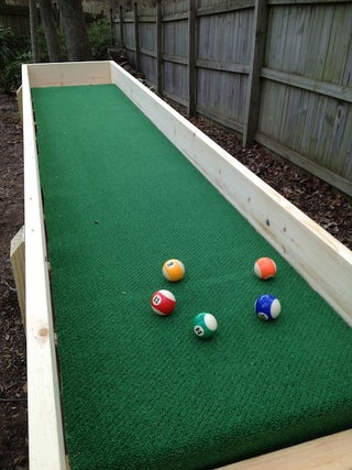 Outdoor Carpet Ball Table Also Called Gutter Ball 8 Steps Instructables