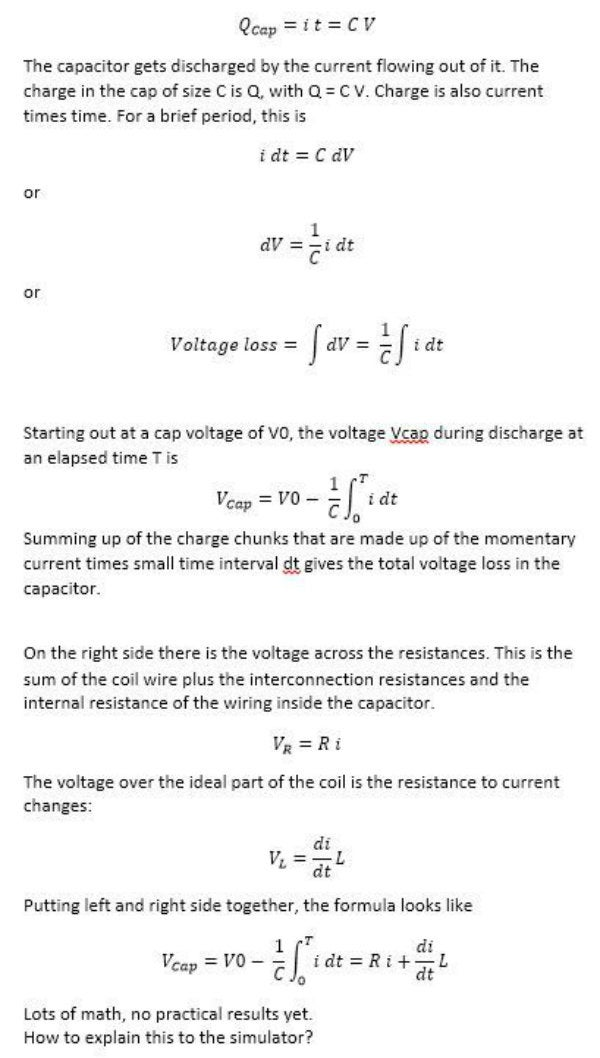 Calculation of Momentary Current