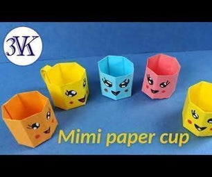 How to Make MINI PAPER CUP ?