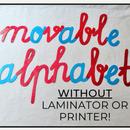 Montessori Movable Alphabet WITHOUT a Printer & Laminator