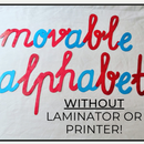 Montessori Movable Alphabet WITHOUT a Printer & Laminator