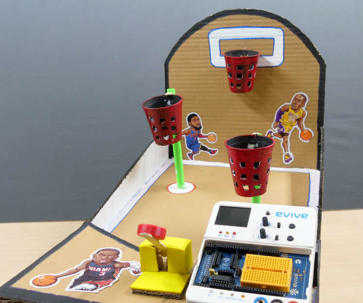 Smart Basketball Arcade Game With Score Counting Hoops Using Evive- Arduino Embedded Platform