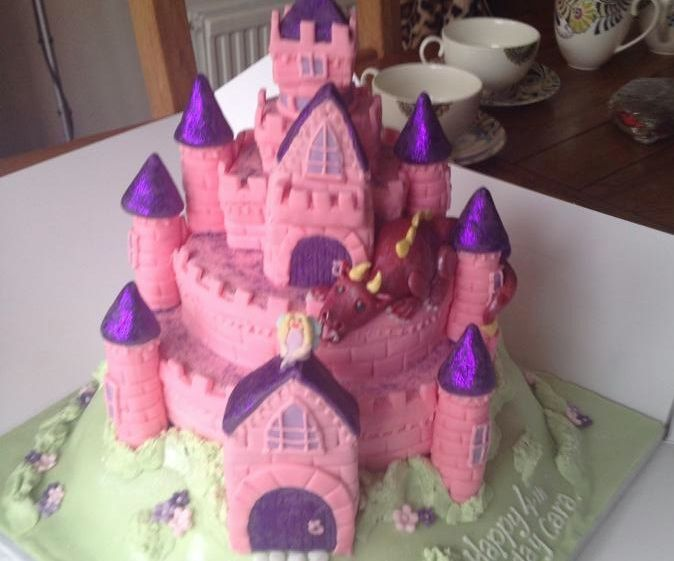 My ultimate fairy castle cake - can easily be customised into other castle styles from this basic shape