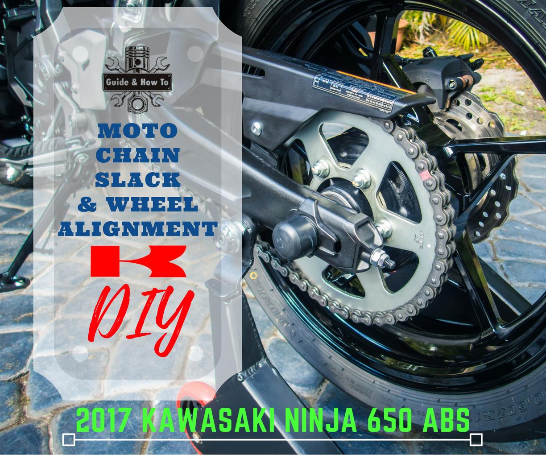 DIY - Moto Chain Tension & Wheel Alignment