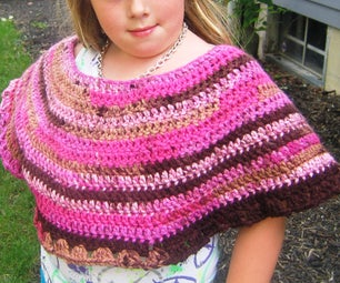 """Recession"" Poncho:  How to Crochet a Child's Poncho - 8 Quick and Easy Steps"