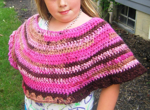 """""""Recession"""" Poncho:  How to Crochet a Child's Poncho - 8 Quick and Easy Steps"""