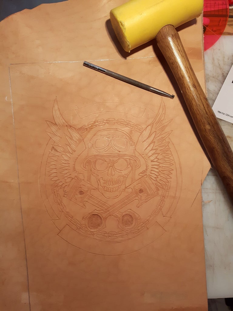 Step 3: Carving the Image Into the Leather