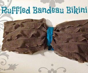 Ruffle Bandeau比基尼顶部