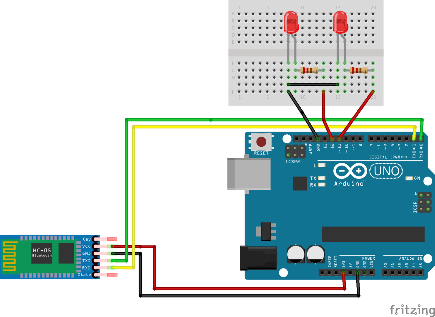 Adding Another LED and Uploading New Arduino Sketch