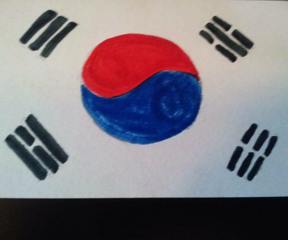 DIY Flag Art: South Korea