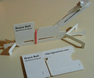 Cardapult the Business Card Catapult