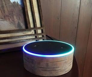 Birch Bark Custom Wrap for Amazon Echo Dot
