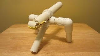 How to make a Mini Cannon that Shoots - PVC pipe projects
