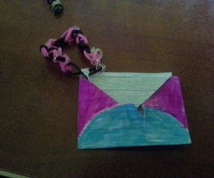 How to Make Mini Envelopes With Loom Keychain