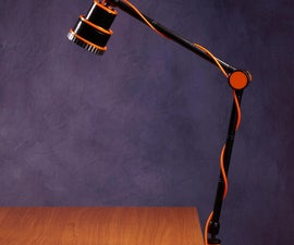 Atomic Age/70s Desk Lamp From the Old Projector Lens