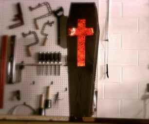 How to Build a Coffin (DIY Halloween Decorations / Crafts)