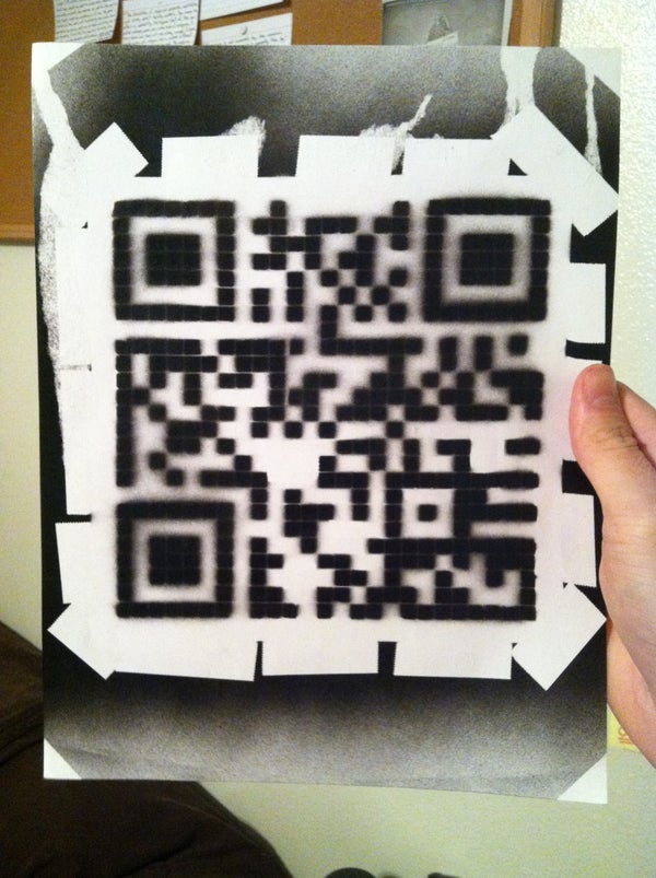 Simple QR Code Spray Paint Stencil