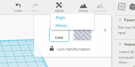 Using the Align Tool in Tinkercad