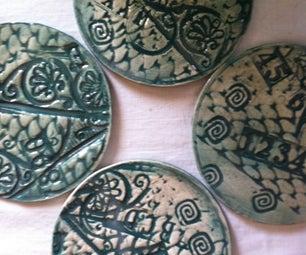 Textured Ceramic Coasters