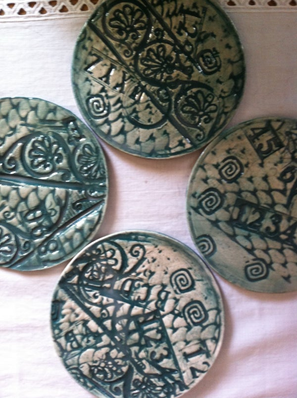 Textured Ceramic Coasters
