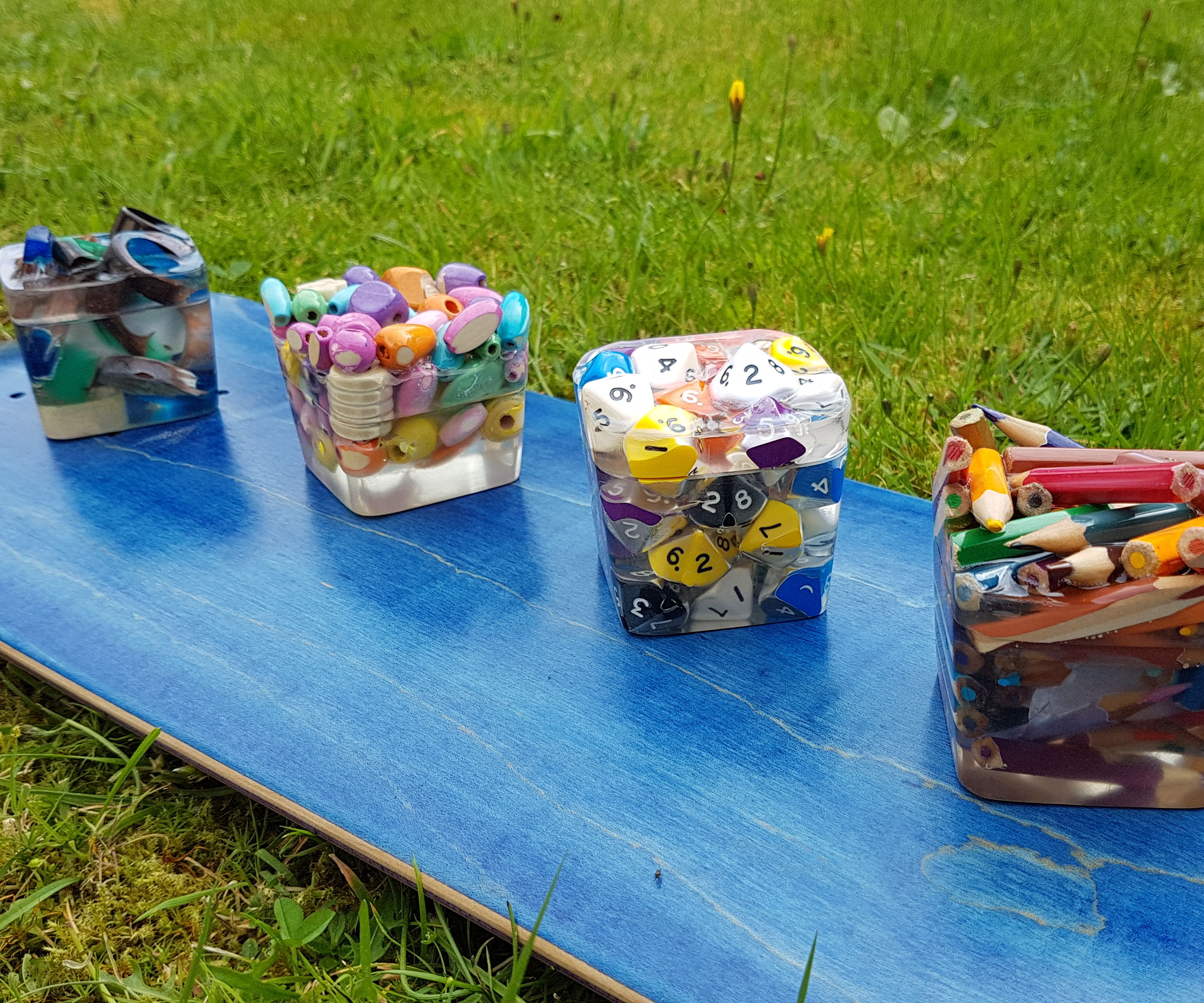 Resin and Bits Ring Boxes