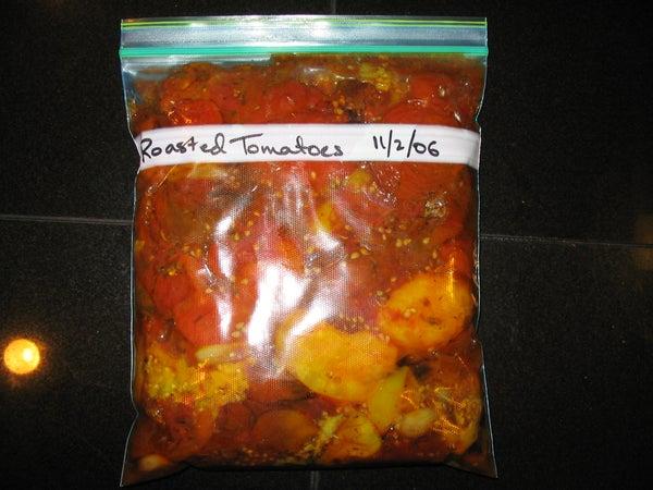 Freezing Roasted Tomatoes