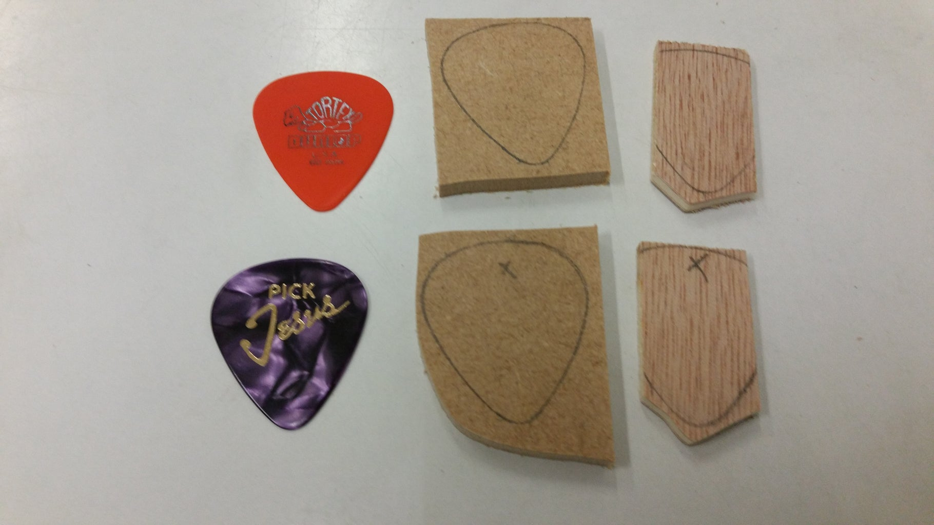 Cutting Out the Pick Shape