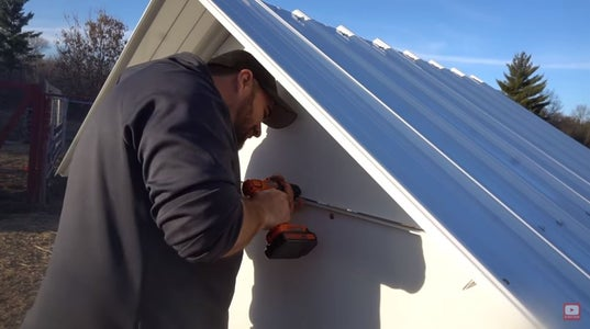 Secure the Gable Panels.