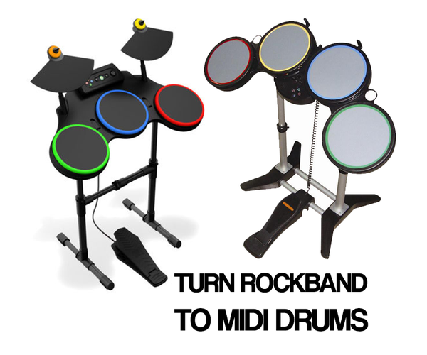 Convert Rockband Controller to MIDI Drums