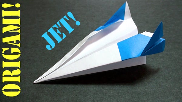 How to Make an Origami Paper Jet Plane!