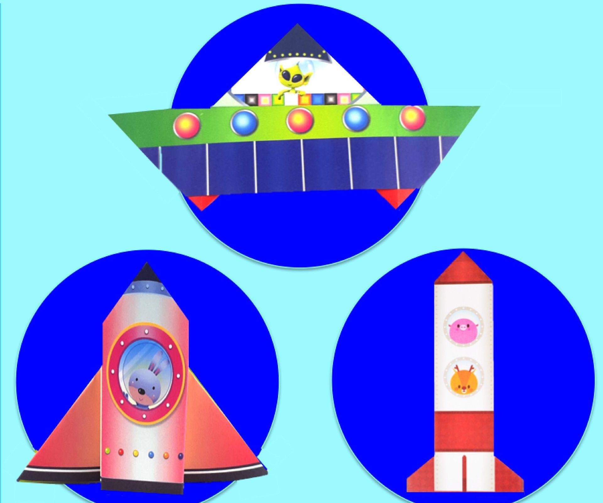 Origami / Paper Craft UFO & Space Shuttles