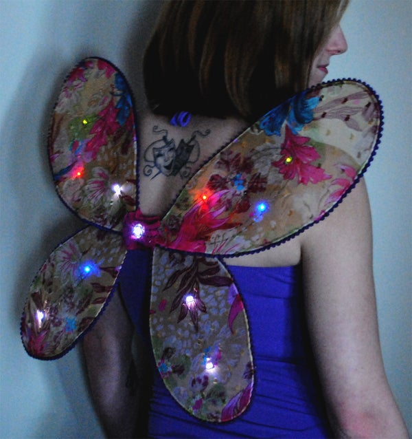 Programmable Light Up Fairy Wings