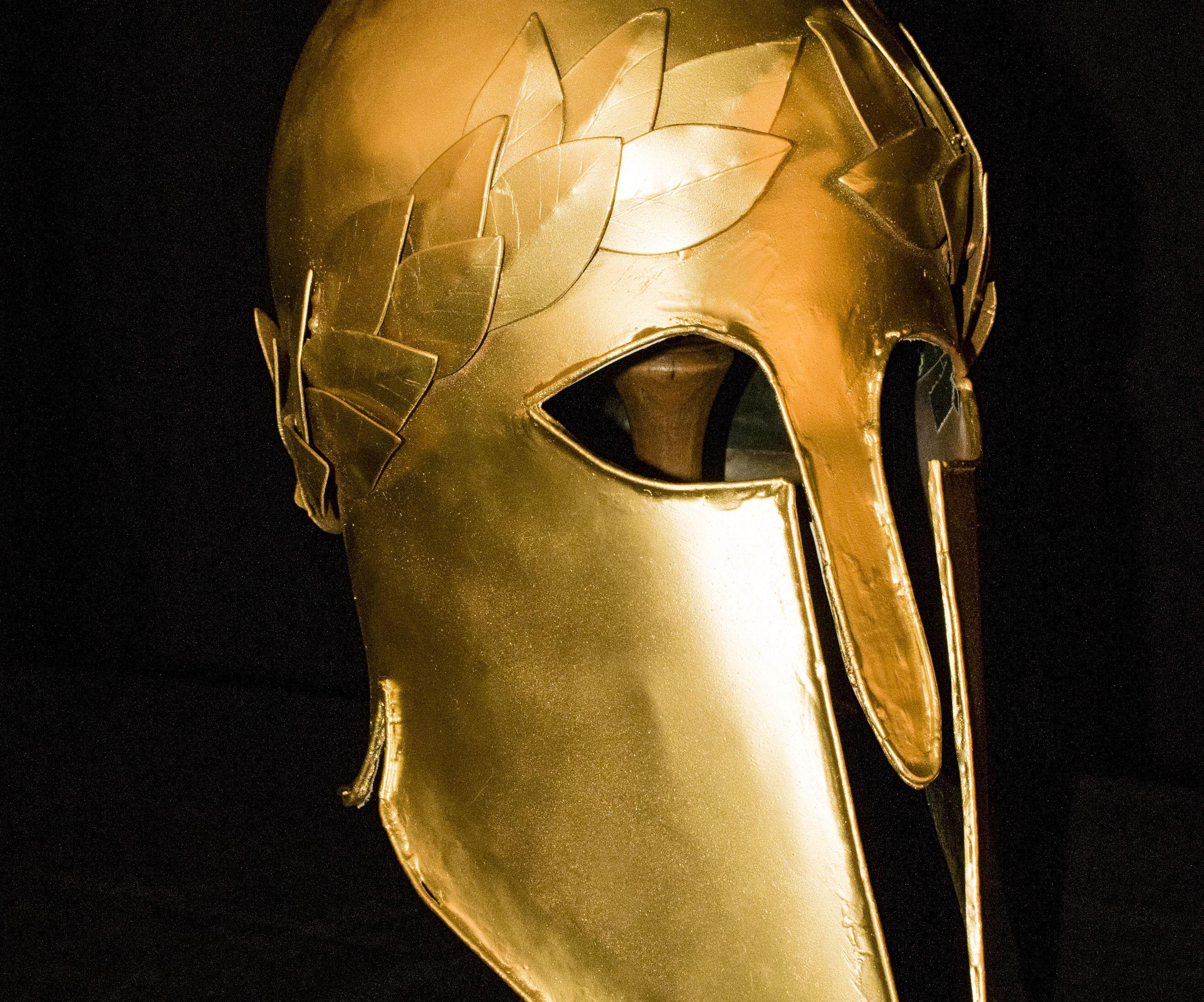 Steel Corinthian Helmet